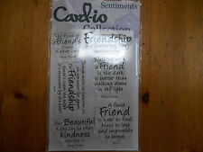 New Card-io Majestix Clear Stamps Sentiments Stamps Friends