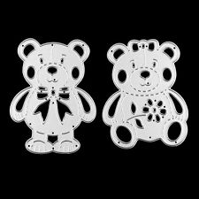 Two Bear Cutting Dies Stencil DIY Scrapbooking Embossing Paper Card Craft NEW
