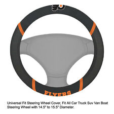Fan Mats NHL Philadelphia Flyers Car Truck Suv Van Boat Steering Wheel Cover
