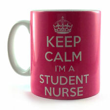 BRAND NEW KEEP CALM I'M A STUDENT NURSE PINK GIFT MUG CUP AND CARRY ON RETRO