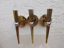 SET OF 3 BOYD LIGHTING POLISHED BRASS & CHROME MID CENTURY MODERN SCONCES LAMPS