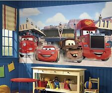 New XL DISNEY CARS PREPASTED WALLPAPER WALL MURAL Lightning Mater Mack JL1303M
