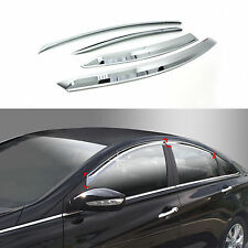 Chrome Sun Shade/Rain Guard Door/Window Vent Visor for 11+ Sonata