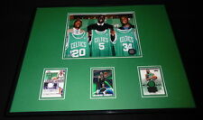 Kevin Garnett Paul Pierce Ray Allen 16x20 Framed Game Used Cards & Photo Set