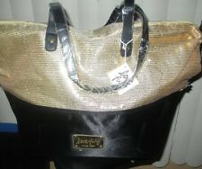 Nine West ~Love Fury ~ Bling Gold Sequins Zip Closure Tote Handbag~NWT