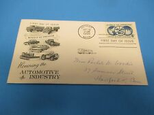 First Day Cover, Honoring the Automotive Industry, Wheels of Freedom, 1960, FDC