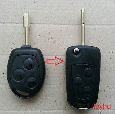 FORD MONDEO FIESTA PUMA FOCUS KA TRANSIT REMOTE FLIP KEY FOB CASE CONVERSION KIT