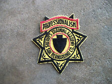 vintage San Bernadino County Sherrif Training academy California police patch