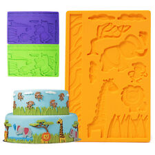 Silicone Mold Zoo Animals Monkey Giraffe Childrens Birthday Cake Cookie Mould