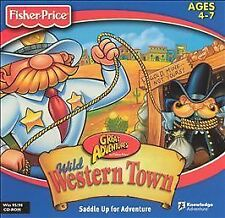 Video Game PC Fischer Price Great Adventures Wild Western Town NEW SEALED