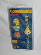 Bob the Builder Interchangeable LCD Watch. 4 Characters. New Sealed. 2005 Wesco
