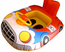 Red Activity Car Boat, Baby swim Boat/ Seat, With Steering wheel & Horn, New