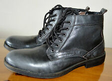 NEW Steve Madden Leahter uncle boots / charcoal colour UK size 6,5 / 39 / US 7M