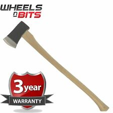64oz 1.8KG 4LB WOODEN LONG FELLING AXE HATCHET WOOD LOG SPLITER CHOPPER LARGE