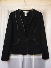 """Max Studio Black A Button Up Long Sleeve Rayon Jacket Women S """"""""NWOT"""""""""""