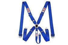 STR 5 Point Racing Safety Harness Seat Belt SFI  Aircraft Cam Lock Release BLUE