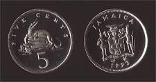 GIAMAICA JAMAICA 5 CENTS 1993 CROCODILE FDC/UNC FIOR DI CONIO