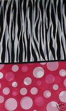 Zebra Stripe Polka Dot Table Cover, Birthday Bachelorette Party, Baby Shower SPA