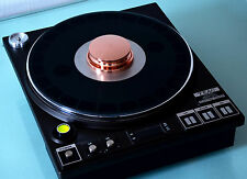 Heliopad Cu-940 pure copper record weight for Micro Seiki Garrard EMT turntable