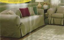 SURE FIT SOFA SLIPCOVER COUCH COVER  BLACK*  *NEW N PACKAGE**  FURNITURE