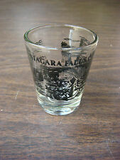 NIAGARA FALLS Liquor Booze Shot Glass ~ American Falls & Rainbow Bridge ~ CANADA