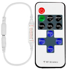 RF Wireless 11Key Remote Controller Mini Dimmer For Single Color LED Strip Light