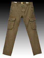 NEW HUGO BOSS Casual Brown Military Army Style Cargo Pants Trousers  32R 48