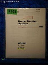 Sony Bedienungsanleitung HT SL55 /SL50 /SL40 Home Theater System (#2101)