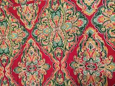 Pottery Barn Harlow Full Queen Quilt NWT New Wholecloth Reds Greens + 2 St Shams