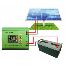 LCD MPPT Solar Panel Regulator Charge Controller 24/36/48/60/72V 10A DC-DC Boost