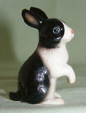 Klima Miniature Porcelain Animal Figure Black & White Rabbit Sitting Up L180