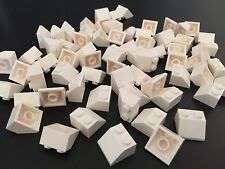 50 - BRAND NEW LEGO 2x2 WHITE FLAT CLEAR SLOPE BRICKS ROOF 1x2 -- LOT 50