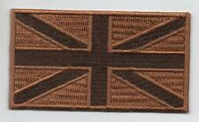 UNION JACK Flag UK Army SUBDUED DESERT PATCH TRF (Iron On / Sew On)
