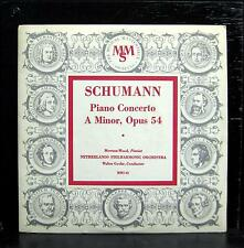 "MEWTON WOOD schumann concerto for piano & orch 10"" VG+ MMS-43 Mono USA"