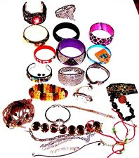 BRACELET LOT Some Good Most Damaged For Parts & Stones BANGLES & MORE