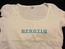 HPNOTIQ Liqueur... Ladies promo Shirt...Medium...Very Thin...White...NEW