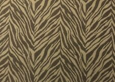 "LEE JOFA ZEBRA BROWN BEIGE ANIMAL JACQUARD FURNITURE FABRIC BY THE YARD 54""W"