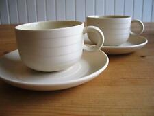 Hornsea Concept - 2 x Beige Coffee Cups & Saucers, take 2, 4, 6, 8, 10 or 12