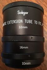 "Vintage Soligor Automatic Extension Tube to Fit ""P"", 32mm 16mm 10mm with Case"