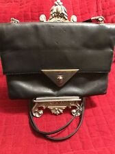 RENATO ANGI Leather Taupe Grain Cross Over Small Folded With Mirror Party Purse