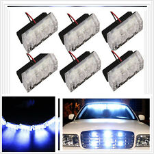 18 LED White Waterproof Emergency Vehicle Strobe Flash Lights Front Grille Truck
