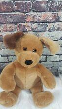 "BABW Build a Bear Dog Pup Dark Ear Cute 12"" Plush Super Soft Cuddly"