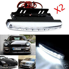 2PC 8 LED Daytime Driving Running Light DRL Car Fog Lamp Waterproof DC 12V White