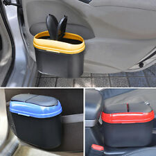 Car Dust Bin Storage Bucket Trash Can Container Garbage Bag 4 Colors LU