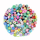 Girl Mixed Fimo Nails Art Tips 3D Decoration Slice Clay Canes DIY Rods Stickers