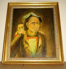 Orientalist Portrait oil painting signed H. Price (may be listed artist Herbert)