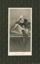 ANTIQUE PRETTY YOUNG WOMAN GARTER STOCKINGS VICTORIAN SETTEE AESTHETIC ART PRINT
