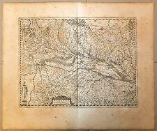 Carte 1656 JANSSONIUS antique map in-folio ALSACE SUPÉRIEURE Sundgau Brisgau 67