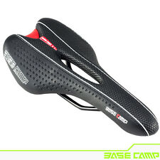 BaseCamp - Mountain / Road Bike Seat - Comfortable Black Saddle - PU leather