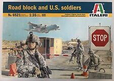 Italeri 6521 Road Block and U.S. Soldiers 1/35 Model Kit NIB
